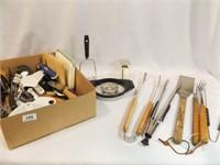 Kitchen, Grill Utensils - 1 Box