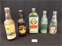 Vintage Bottles, one with Contents (5)