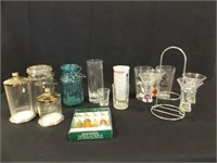 Glassware - Variety - Shot Glasses, Jars, More