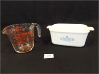 Pyrex Casserole Dish, Pyrex Measuring Cup