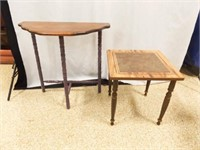 """Half Table 24"""" tall, Small Square Table 16"""" tall"""