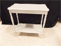 """Small Table, painted Gray, 24"""" x 21"""" x 11"""""""