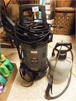 Pressure Washer 1600 PSI, 1 Gal Sprayer
