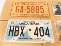 Oklahoma License Plates - '76, '17, '17, 19
