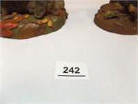 Tim Wolfe Racoon Figurines (2)