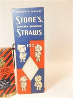 Vintage Pipe Cleaners, Drinking Straws