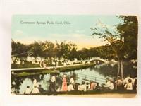 Postcards, Enid, OK, Government Springs Park (2)