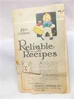 Calumet Reliable Recipe Book, 23rd Edition