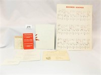 University of Oklahoma Items - 40's, 50's 70's
