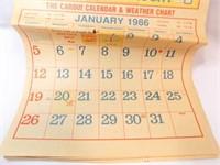 1986 Dinkler Drug, Calendar, Hennessey, OK