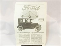 Ford Advertising Magazine Page