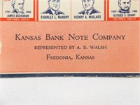 1940 Presidential Candidates Card