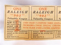 Raleigh 903 Cigarette Coupons (8)