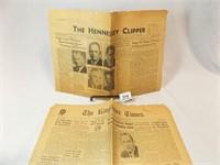 1947 Kingfisher, OK News, 1954 Hennessey, OK