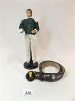 Michael Jackson Doll with Stand, Belt