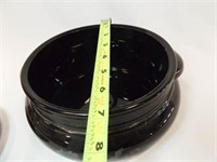 Serving Bowl with Lid, Black