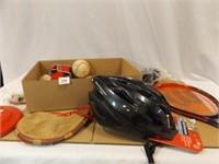 Athletic Items - new Schwinn Helmet, Balls, More