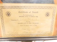 1966 Kiwanis Little Olympics Award, Enid, OK