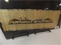 Papyrus Painting, Six Geese, Pharonic Art