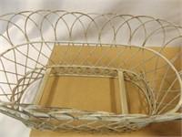 Wood Crate, Metal/Tin Planter