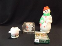 """1968 Blow Mold Snowman, 14"""", Holiday Items"""