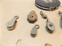 Metal Pulleys (10+), 100' Measuring Tape