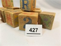 """Wood Letter / Number Blocks, 1¾"""" (20+)"""
