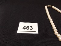 White Bead Necklace, Earrings