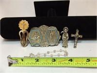 Religious Pendants, Pins (5)