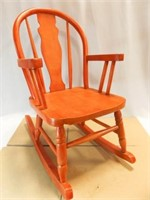 Child's Wooden Rocking Chair, Red