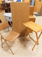 Folding Table, Chair, Tray