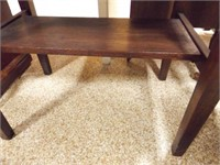 """Wood Table with Drawer, 20"""""""