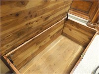 Cedar Chest with Copper Tone Banding