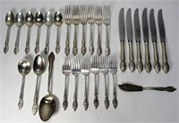 Westmoreland Sterling Flatware, 28 pieces, 848 g,