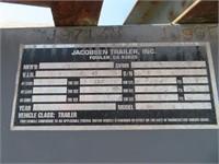 (DMV) 1997 Jacobsen Gooseneck 8' W x 28' L Tilt De