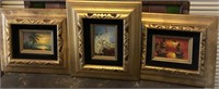 62 - LOT OF 3 FRAMED BEAUTIFUL WALL ART