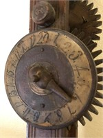 62 - ANTIQUE WOODEN MACHANICAL CLOCK
