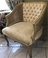 62 - STUNNING TUFTED BUCKET CHAIR