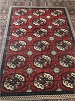 62 - BEAUTIFUL RED AREA RUG  93 X 66