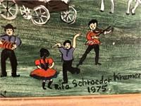 62 - RITA SCHROEDER KRAMER 1975 FRAMED PAINTING
