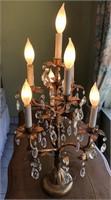 62 - UNIQUE TABLE TOP CHANDELIER TYPE LAMP