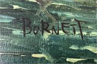 """62 - SIGNED & FRAMED BURNETT """"VENICE"""" PAINTING"""