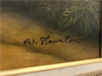 62 - SIGNED W. STAUNTON FRAMED PRINT