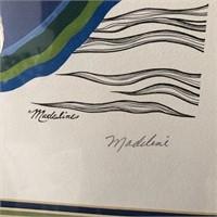 """62 - SIGNED BY MADELINE INK """"STEVIE"""" FRAMED ART"""