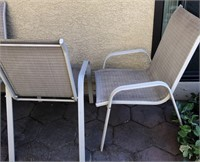 62 - SET OF 4 PATIO CHAIRS