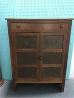 Antique Pie Safe w/ Punched Tin Door Panels