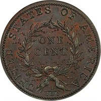 L1C 1793 WREATH. VINE AND BARS. PCGS MS66 RB CAC