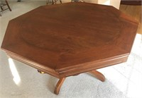 Octagon game table, features bumper pool & poker