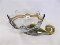 Cornucopia; Blown Glass