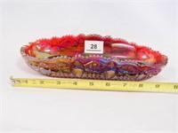 Carnival Glass Dish; Sawtooth Edge